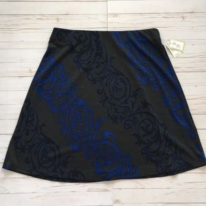"""NWT Beige by eci XL Skirt elastic 36"""" waist Career"""